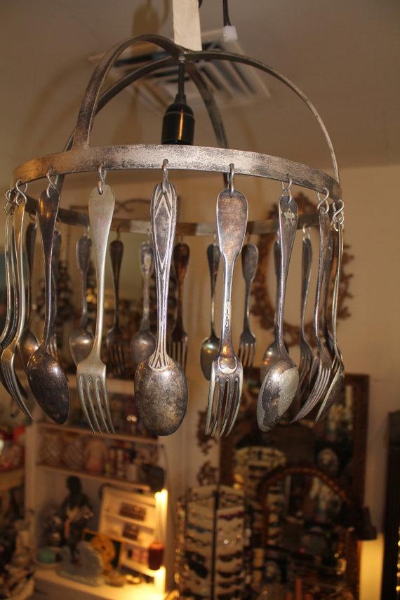 14 best silverware chandelier images on pinterest flatware wind cool chandelier aloadofball Images