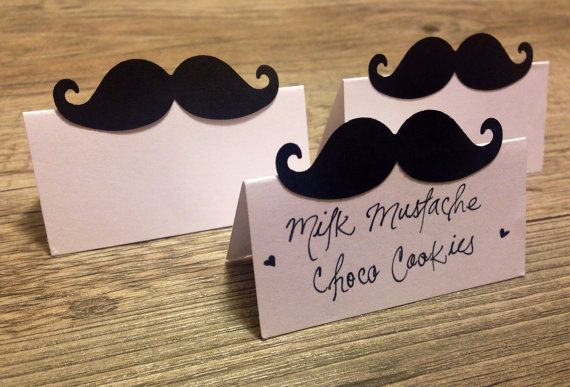 Mustache place cards for wedding Little Man by LOVEandQUIRKS, $6.00