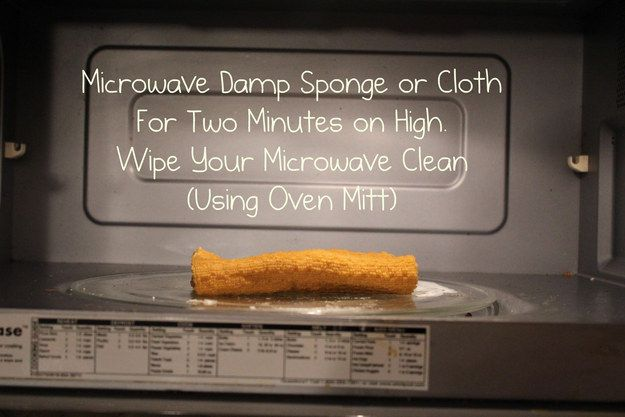 Clean your microwave and your sponge all at once.   17 Lazy Girl Cleaning Hacks That Will Forever Change You