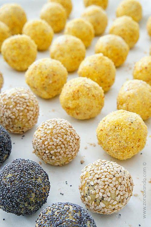 Polpette di polenta, Gruyère e cipolla | Zonzolando