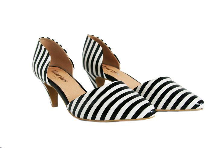 Striped Mini Heel from Marais