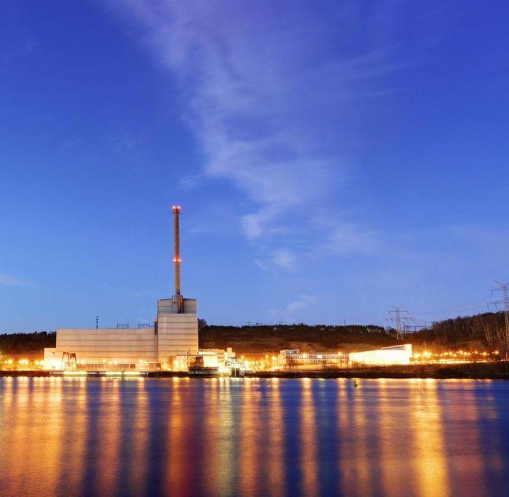 AKW Kruemmel in Geesthacht bei Sonnenuntergang, Deutschland, Schleswig-Holstein | nuclear power station Kruemmel at sunset, Germany, Schleswig-Holstein [ Rechtehinweis: picture alliance / blickwinkel ]