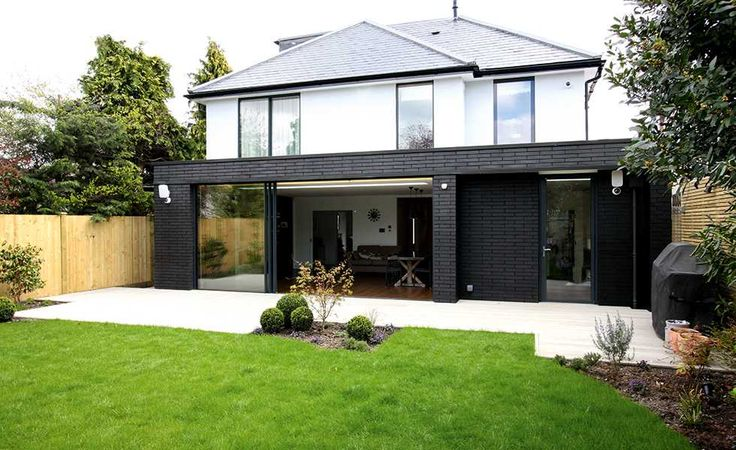 Engineering Brick In Black For A Modern Single Storey