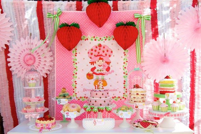 strawberry shortcake table - Google Search