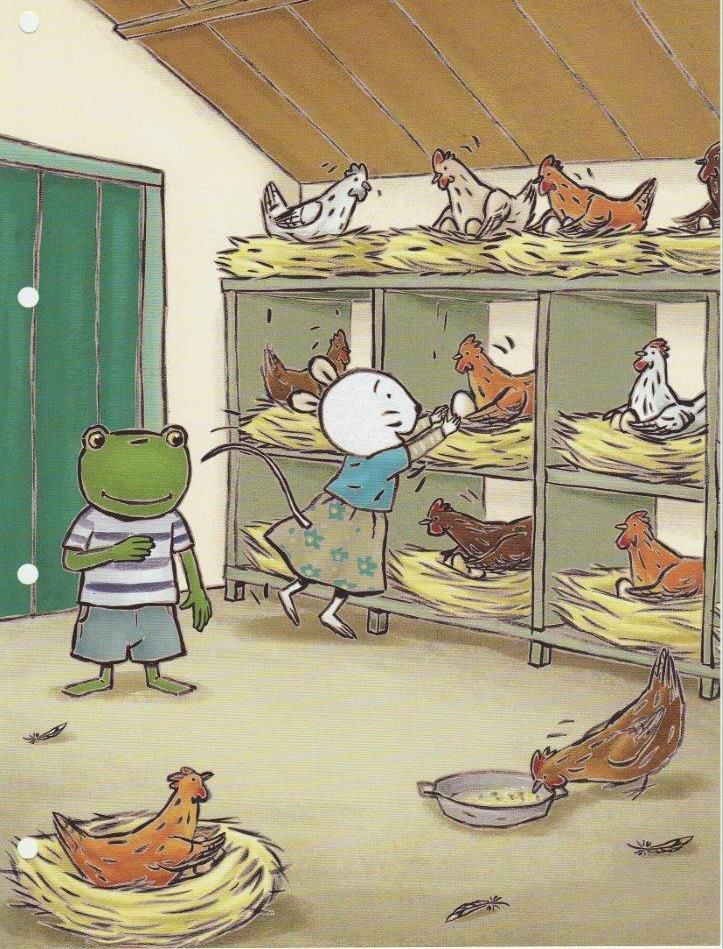 In het kippenhok!