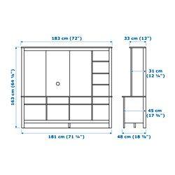 "TOMNÄS TV storage unit, white - 72x18 3/4x64 "" - IKEA"