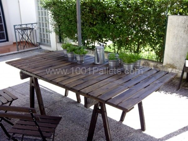 44 best images about pallets diy on pinterest pallet for Patio table made from pallets
