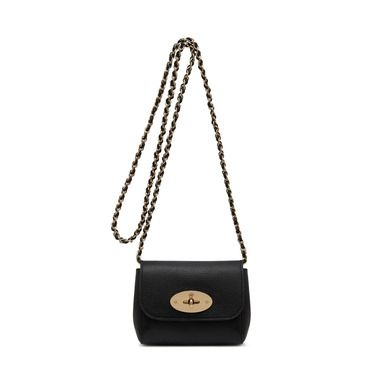 Mulberry - Mini Lily in Black Glossy Goat