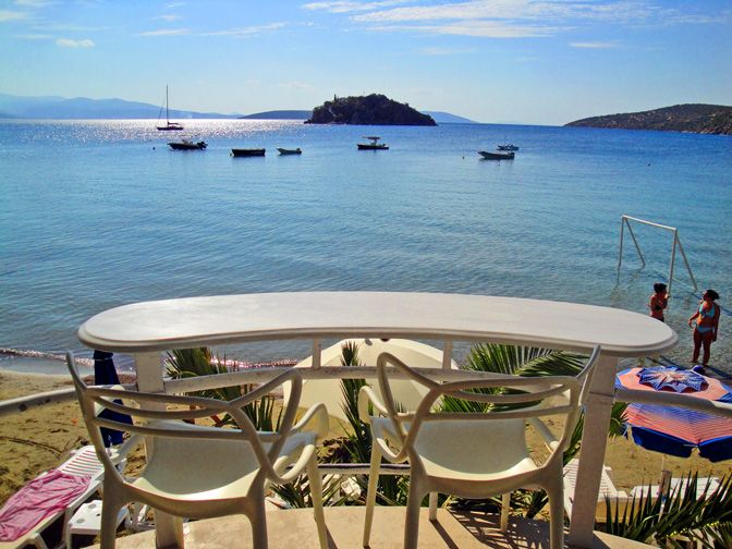 Nelly's Hotel breakfast/dining area on #Tolo beach, #Argolida, #Peloponnese, #Greece