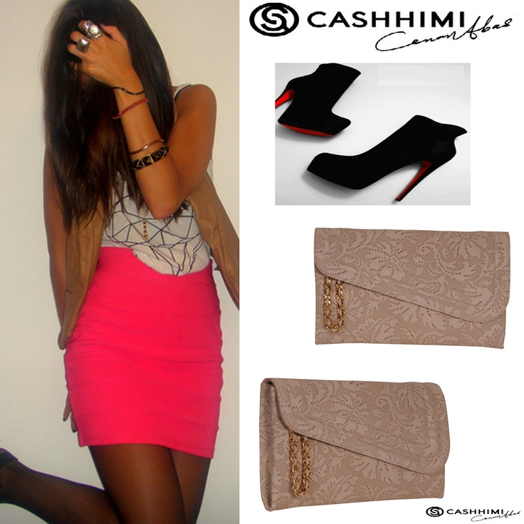 Cashhimi Brown Canon Leather Clutch