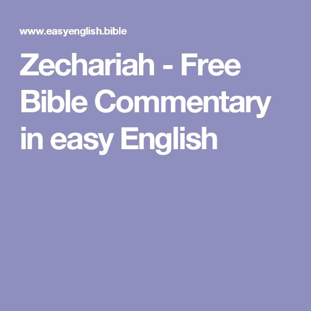 Zechariah - Free Bible Commentary in easy English
