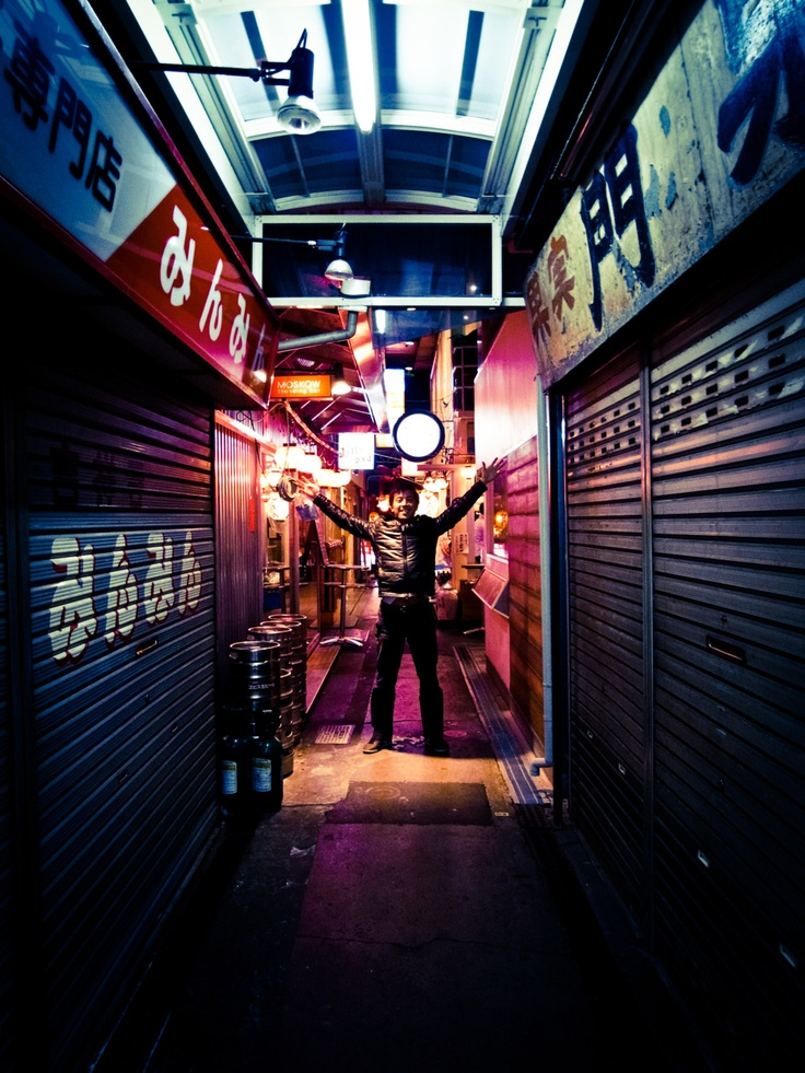 my japanese roomate ken...this photo i took in the backstreet alleys of #kichijoji #tokyo