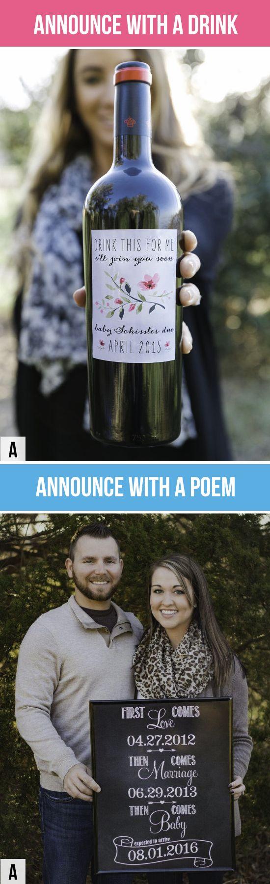 The 25 best Pregnancy announcement poems ideas – Creative Baby Announcement Photos