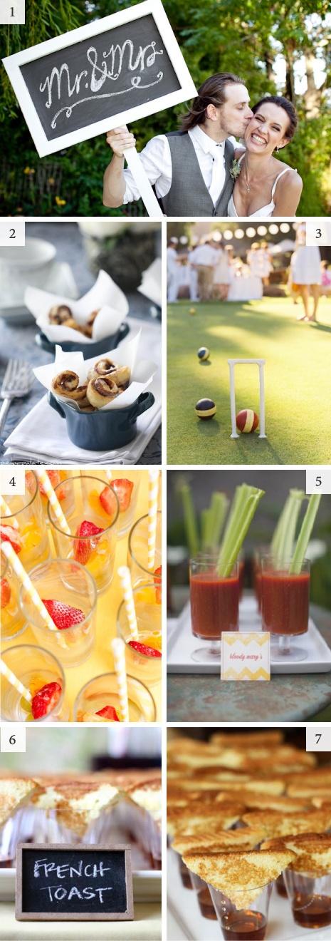 Brunch / breakfast / afternoon wedding inspiration