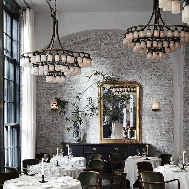 the coucou part of 11 howard new york hotel interior interiordesign - Beaded Inset Restaurant Interior