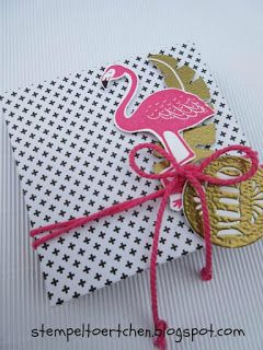 stamp tarts: Pink with Pep and Flamingo