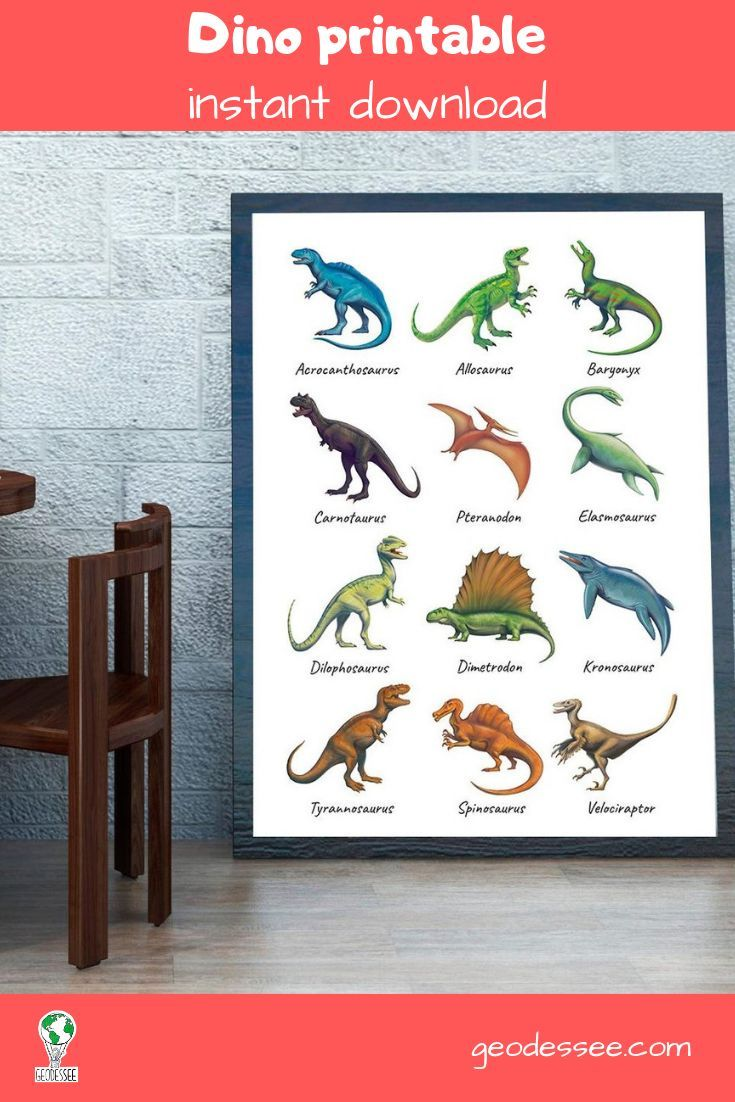 Printable Dinosaur Poster For A Kid S Bedroom Decor Digital Download Birthday Gift Dinosaur Party Dinosaur Printables Dinosaur Posters Dinosaur