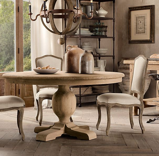 restoration hardware 48 french urn pedestal dining table alittle