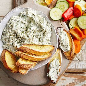 A great party appetizer or snack recipe that is a yummy spread on veggies or crackers. A high protein dish that's delicious and healthy.
