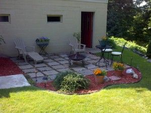 easy patio ideas easy paver patio ideas patio paver ideas easy outdoor patio and landscaping image - Outdoor Patio Ideas On A Budget