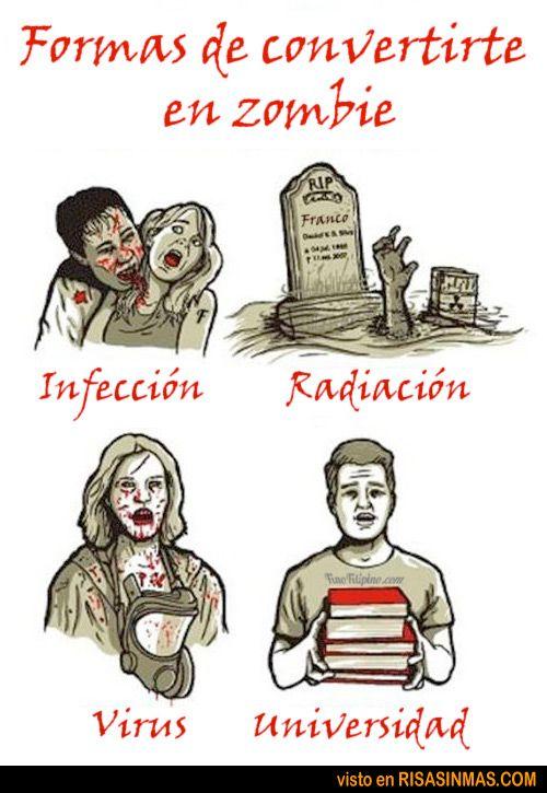 Formas de convertirte en zombie