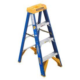 Werner 4-Ft Fiberglass 375-Lb Type Iaa Step Ladder Obel04