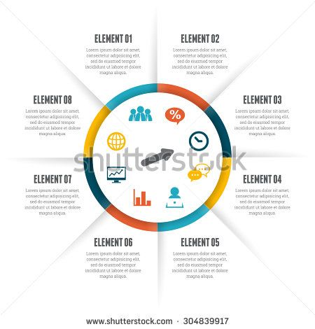 Vector illustration of rolling circle infographic design element. - stock vector