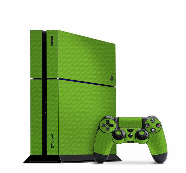 Green Carbon Fiber Slickwraps for the PS4 http ...