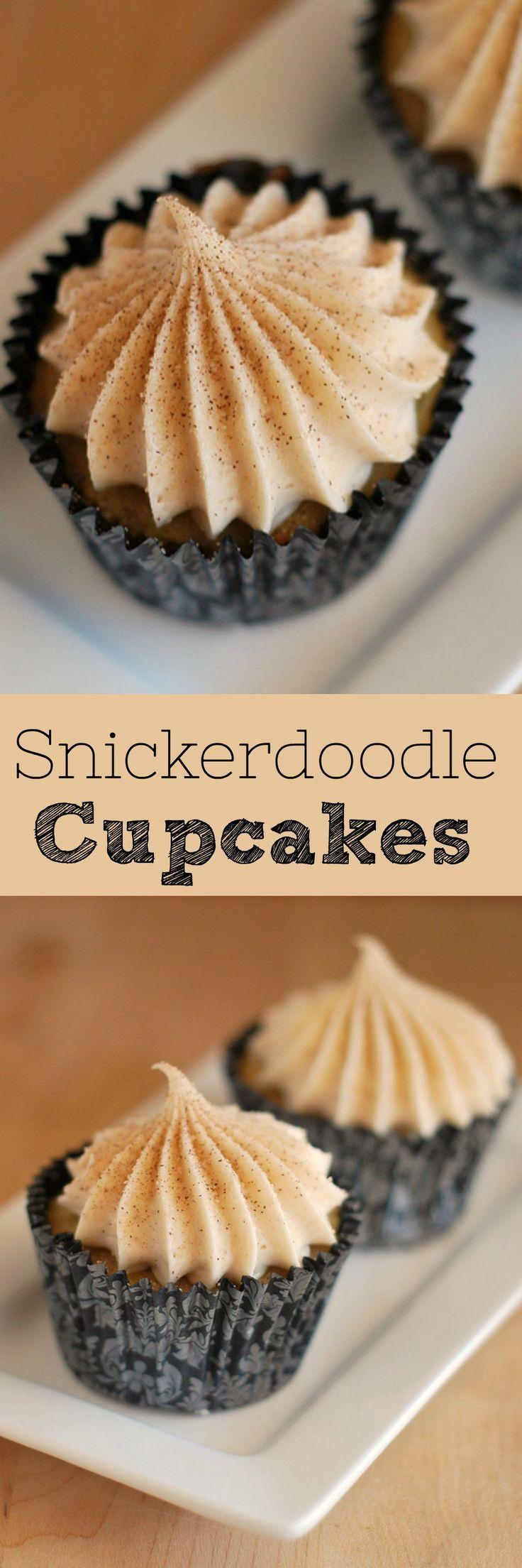 Snickerdoodle Cupcakes – Ihr Lieblings-Urlaubskeks als Cupcake! Zimtschale …