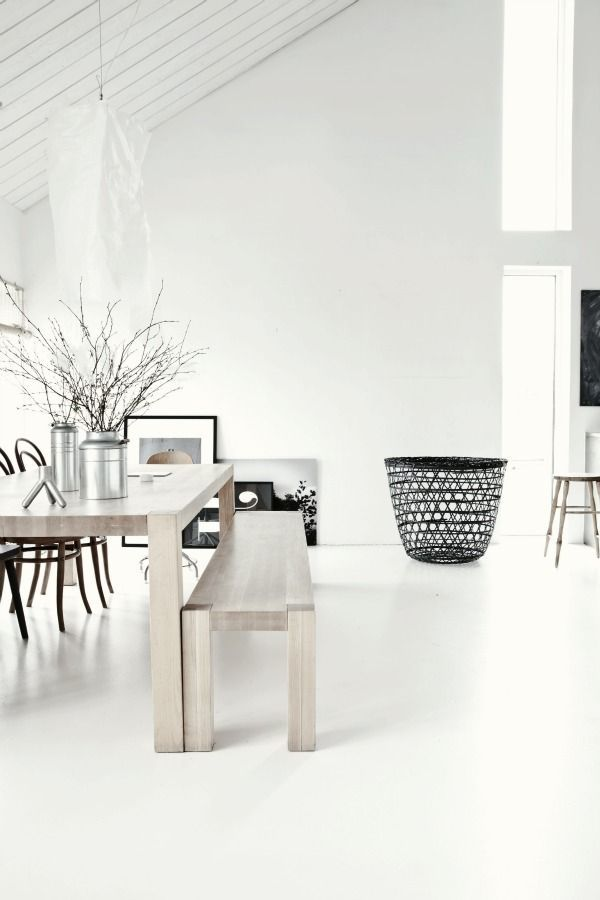 White dining room via Bloglovin.com