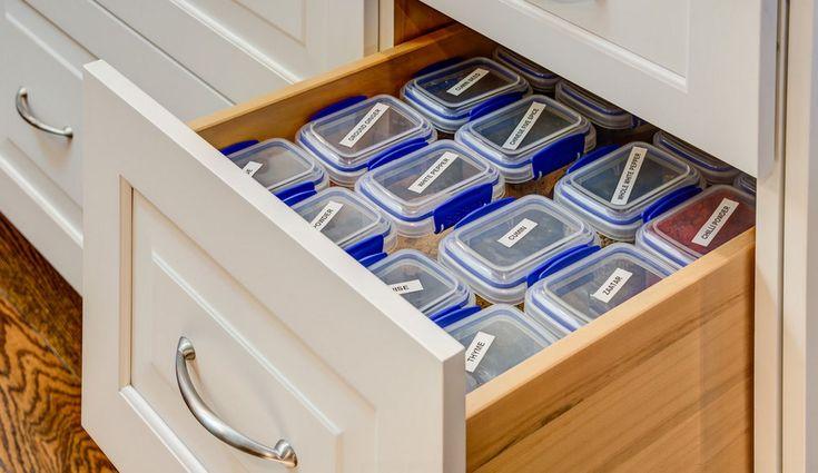 Пластиковые контейнеры с подсказками
