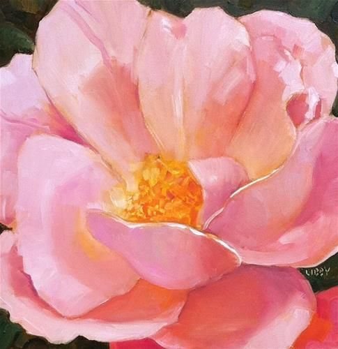 """Daily Paintworks - """"Rylee's Rose"""" by Libby Anderson"""