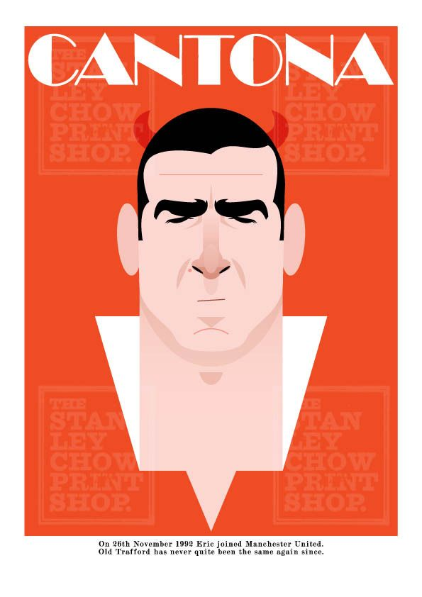 Stanley Chow Soccer Prints — Eric Cantona 20 years. France Repinned byAline