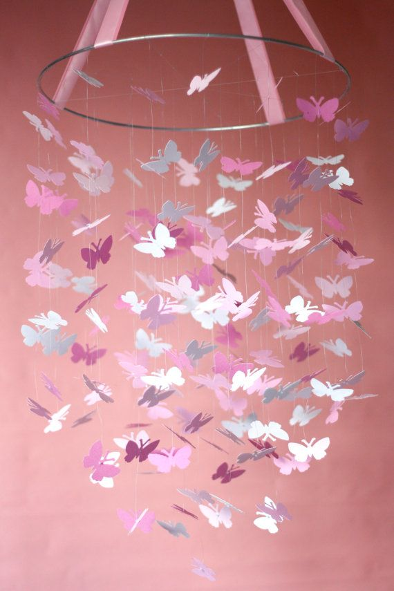Pink Daydream Butterfly Mobile Kit DIY door littledreamersinc, $25.00