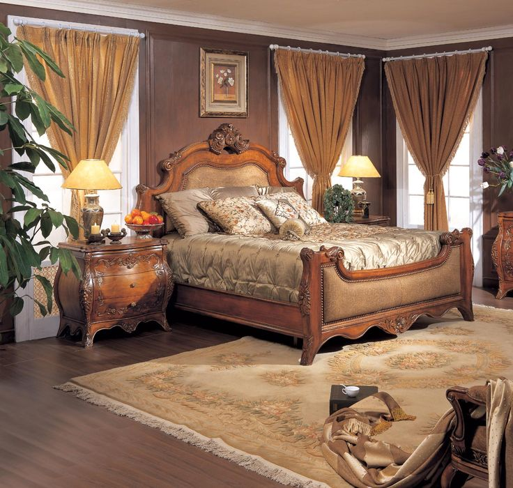 marble top bedroom furniture%0A Chateau  Chateau California King Upholstered Bed  Dining Room Table Sets  Bedroom  Furniture  Curio Cabinets and Solid Wood Furniture  Model  Home Gallery