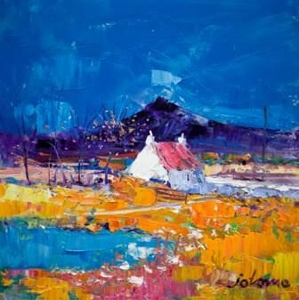 John Lowrie  Morrison (Jolomo)-Autumn Light Pennyghael Isle of Mull from the www.redraggallery.co.uk online limited edition prints gallery.