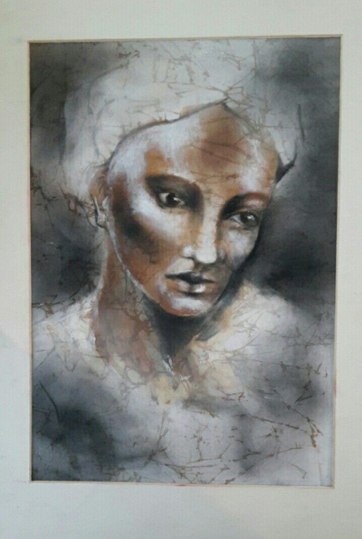 Artist:Gunseli Toker. Mixed media on silk. Textile art.
