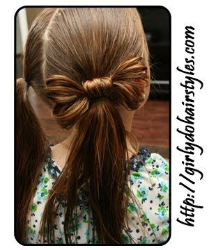 Such a cute hairstyle for long hair.  File away for future granddaughters...