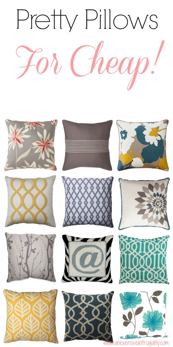 best throw pillows under 20 an exercise in frugality home decor rh pinterest com