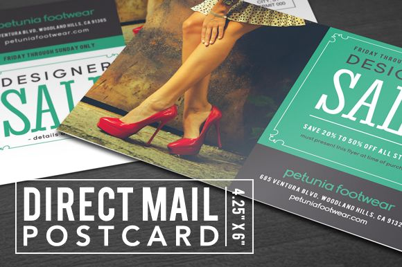 Direct Mail Postcard by END on @creativemarket