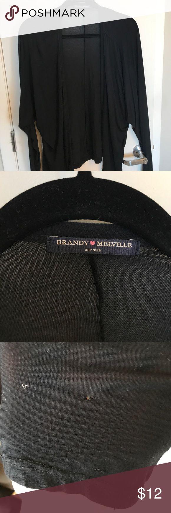 Brandy Melville Cardigan Black few flaws on sleeve not major super cute Brandy Melville Sweaters