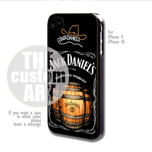 jack daniels whiskey for iphone 4 4s thecustomart accessories on artfire iphone 4 4s. Black Bedroom Furniture Sets. Home Design Ideas
