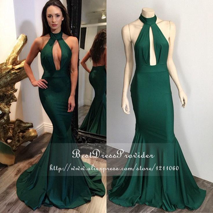 Cheap prom dresses small girls, Buy Quality prom dresses under 200 directly from China prom retailers Suppliers: Simple Mermaid Evening Gown Halter Off The Shoulder Low Back Formal Dresses Floor Length Emerald Green Evening DressesUS