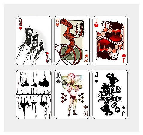 """My contribution was """"Mr. Jack Spade"""" at the bottom right, for Poker card set, """"52 aces"""", Spielkarte für 52Aces, by 12ender, SOLD OUT, won an red dot award, Poker game, Illustration #DUDESIGN"""