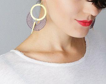 Ohrringe baumeln Ohrringe Kreis-Ohrringe Ohrringe gold