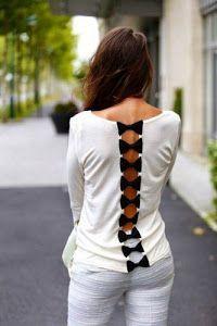 ¡Una idea genial para renovar una vieja camiseta! Tan solo tienes que aprender a hacer lazos y listo. ¡Manos a la obra!