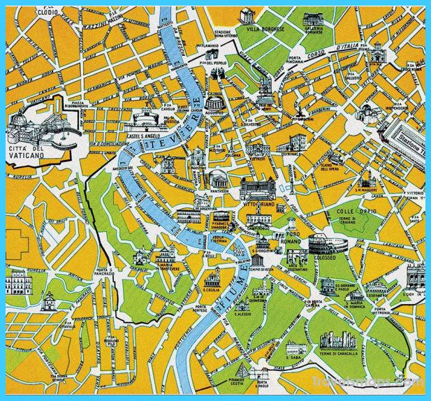 nice Map of Rome
