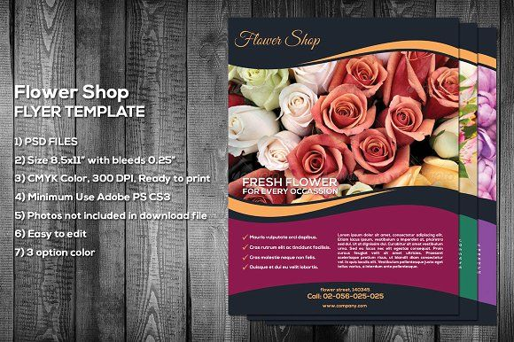 Flower Shop Flyer Template by meisuseno on @creativemarket