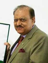 Mamnoon Hussain (Urdu: ممنون حسین; born 23 December 1940) is a Pakistani textile businessman, nationalist conservative, and a politician who has been serving as the President of Pakistan since 9 September 2013.
