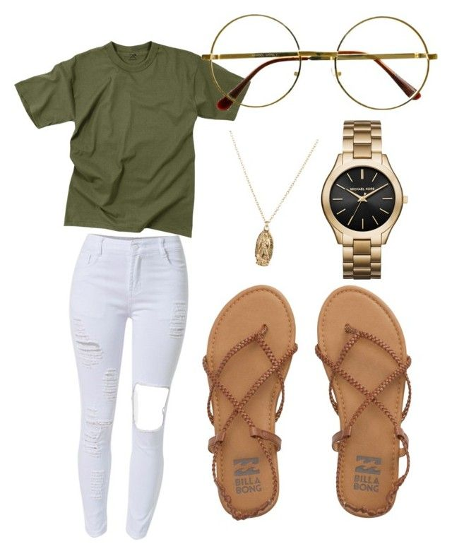 """07/01/16"" by shaniamccrary ❤ liked on Polyvore featuring Rothco, WithChic, Retrò, ASOS, Michael Kors and Billabong"